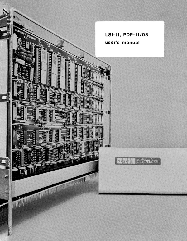 LSI 11, PDP 11 03 User's Manual (May 1976, EK LSI11 TM 003) 1