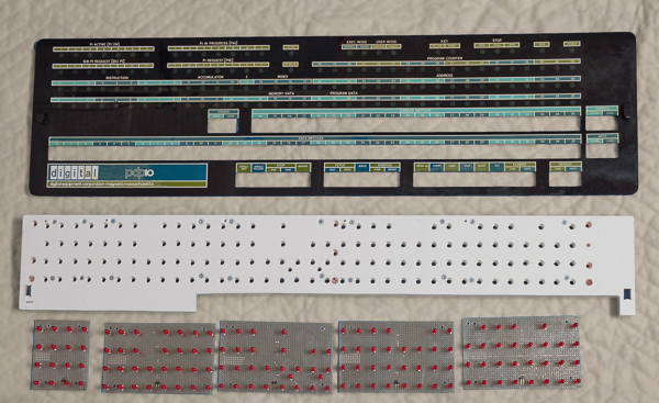 PDP-10 KI10 panel, home made LED board