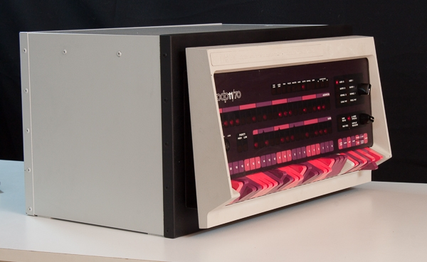 PDP-11/70 front panel in case with BlinkenBone